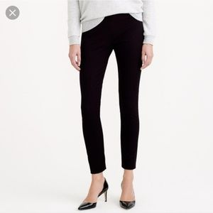 J.crew black stretch cotton Minnie cropped pants
